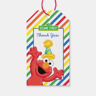 Étiquettes-cadeau Sesame Street   Elmo - Merci d'anniversaire