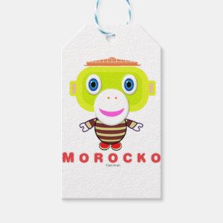 Étiquettes-cadeau Singe Morocko-Mignon