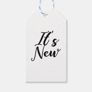 Étiquettes-cadeau Son nouveau concept de typographie