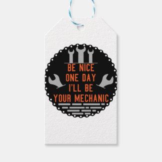 Étiquettes-cadeau Soyez un ll gentil du jour i soit votre mécanicien