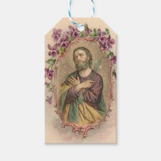 Étiquettes-cadeau St Joseph jour de fête 19 mars vintage