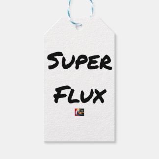 Étiquettes-cadeau SUPER FLUX - Jeux de mots - Francois Ville