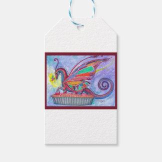 Étiquettes-cadeau Tarte aux cerises avec le Faery et la fée de