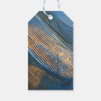 Étiquettes-cadeau Texture bleue lumineuse unique