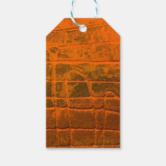 Étiquettes-cadeau Texture orange patinée