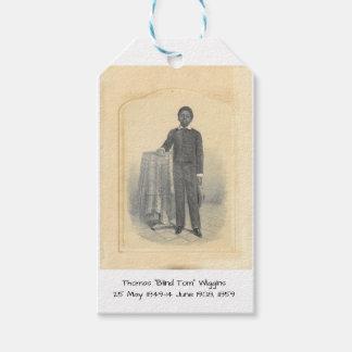 "Étiquettes-cadeau Thomas ""Tom aveugle"" Wiggins, 1859"