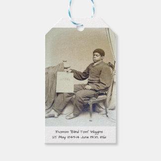"Étiquettes-cadeau Thomas ""Tom aveugle"" Wiggins, 1861"
