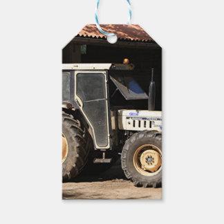 Étiquettes-cadeau Tracteur gris, EL Camino, Espagne