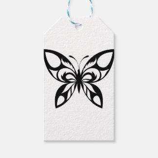 Étiquettes-cadeau Tribal-Papillon-Silhouette
