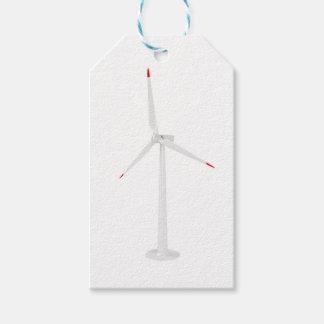 Étiquettes-cadeau Turbine de vent moderne