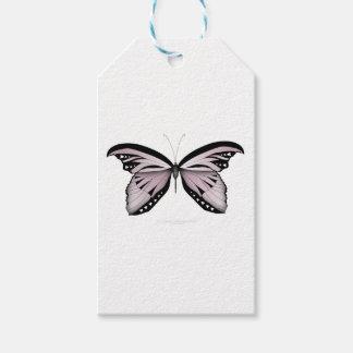 Étiquettes-cadeau Un plus grand rose de montagne de papillon rose