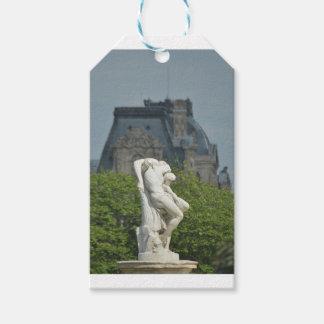 Étiquettes-cadeau Une statue de marbre classique à Paris