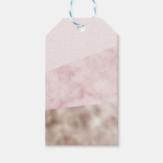 Étiquettes-cadeau Urbain rougissent le geo de marbre