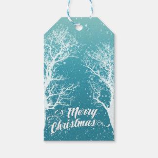 Étiquettes-cadeau Vacances de Joyeux Noël d'hiver