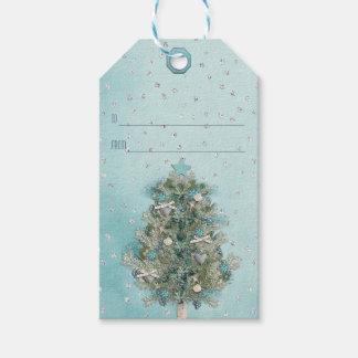 Étiquettes-cadeau Vacances de Noël - bel arbre de Noël