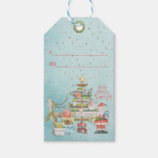Étiquettes-cadeau Vacances de Noël - vient ici Père Noël