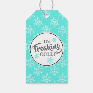 Étiquettes-cadeau Vacances d'hiver froides Freaking drôles