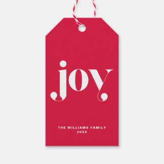 Étiquettes-cadeau Vacances personnalisées par typographie moderne de