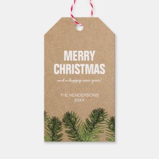 Étiquettes-cadeau Vacances rustiques de l'étiquette | de Joyeux Noël