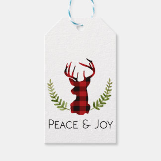 Étiquettes-cadeau Vacances rustiques du mâle | de flanelle