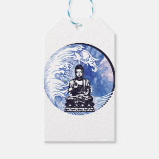 Étiquettes-cadeau Vague d'eau profonde de Bouddha