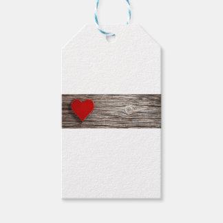 Étiquettes-cadeau Valentines naturels de coeur
