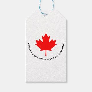 Étiquettes-cadeau Véritable amour de patriote en tout de nous