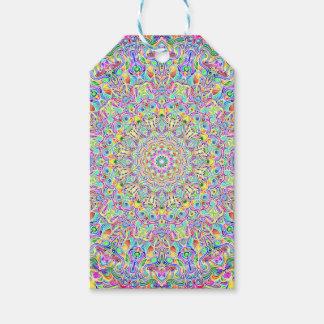Étiquettes-cadeau Version Z de couleur du mandala 7