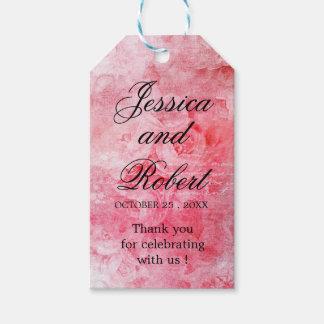Étiquettes-cadeau Vieux rose rose romantique rustique