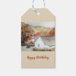 Étiquettes-cadeau Village de Buttermere, secteur de lac, Angleterre