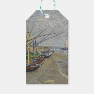 Étiquettes-cadeau Vincent van Gogh - bateaux de pêche sur Saintes