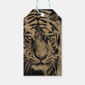 Étiquettes-cadeau Visage de tigre