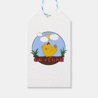 Étiquettes-cadeau Vont le végétalien - poussin mignon