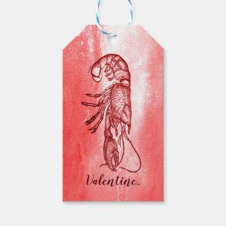 Étiquettes-cadeau Vous êtes mon homard Valentine vilain