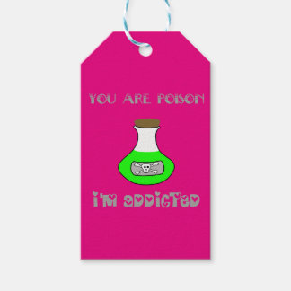 Étiquettes-cadeau Vous êtes poison, je suis dépendants