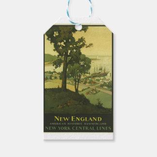 Étiquettes-cadeau Voyage vintage Nouvelle Angleterre Etats-Unis