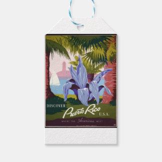 Étiquettes-cadeau Voyage vintage Porto Rico