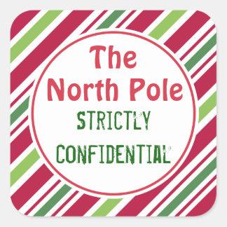 Étiquettes confidentielles de cadeau de Noël de