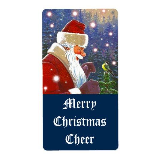 Étiquettes d'acclamation de Père Noël de vacances