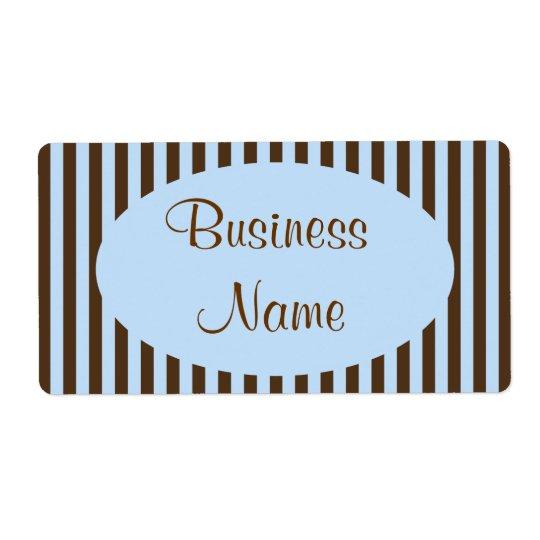 Étiquettes d'affaires