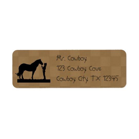 Étiquettes d'Avery d'adresse de retour de cheval