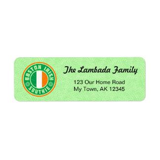 Étiquettes de adresse américains irlandais de