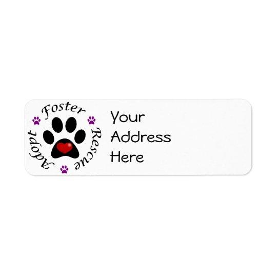 Étiquettes de adresse animaux de délivrance
