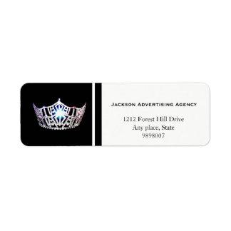 Étiquettes de adresse argentés de retour de