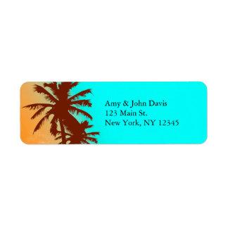 Étiquettes de adresse beach2 de retour de mariage