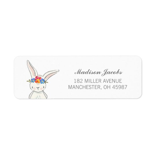 Étiquettes de adresse blancs de couronne de fleur