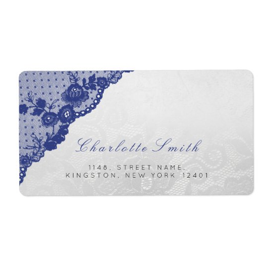 Étiquettes de adresse bleus argentés classiques de