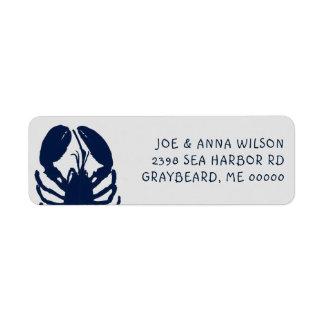 Étiquettes de adresse bleus de retour de gris de