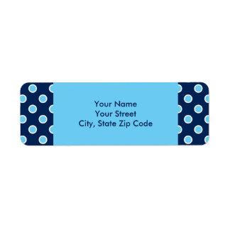 Étiquettes de adresse bleus lumineux de pois