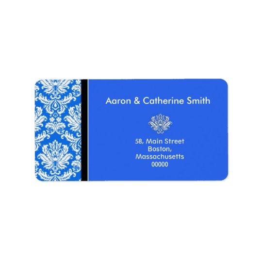 Étiquettes de adresse bleus personnalisables de da